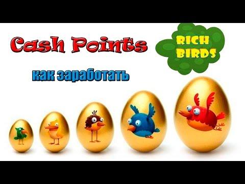 Как заработать Cash Points в игре Rich Birds