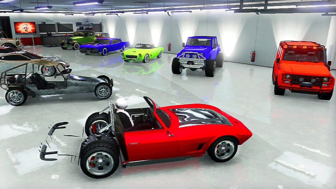 Pr sentation de mes garages de v hicule modder sur gta 5 for Voiture garage gta 5