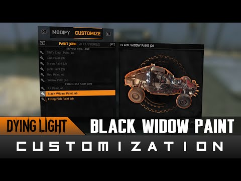 Dying Light: The Following - Black Widow Paint Job Location Guide