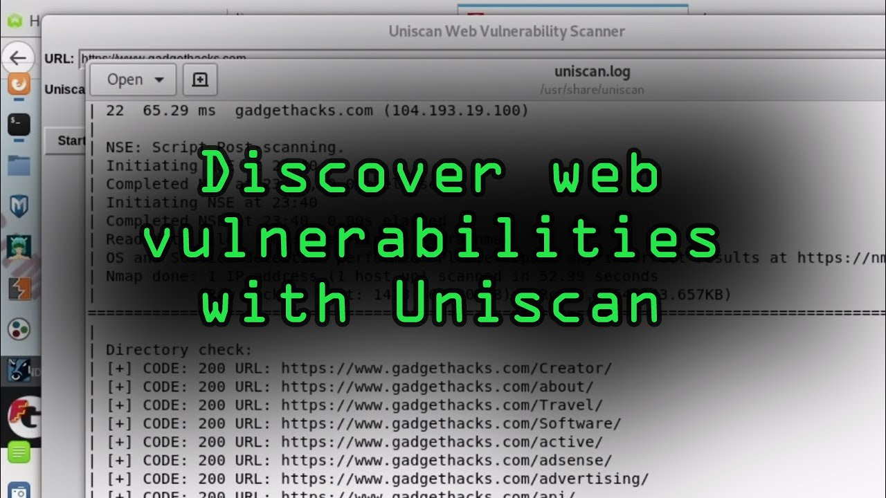 How to Detect Vulnerabilities in a Web Application with Uniscan