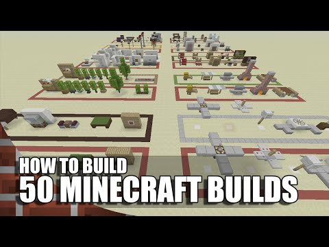 50 Building/Decorations In Minecraft!