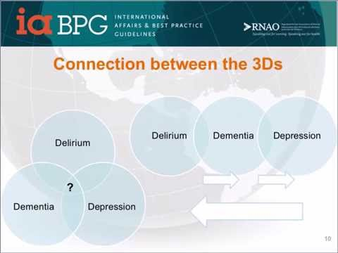 What's new in Best Practices? Delirium, Depression and Dementia in Older Adults: Assessment and Care