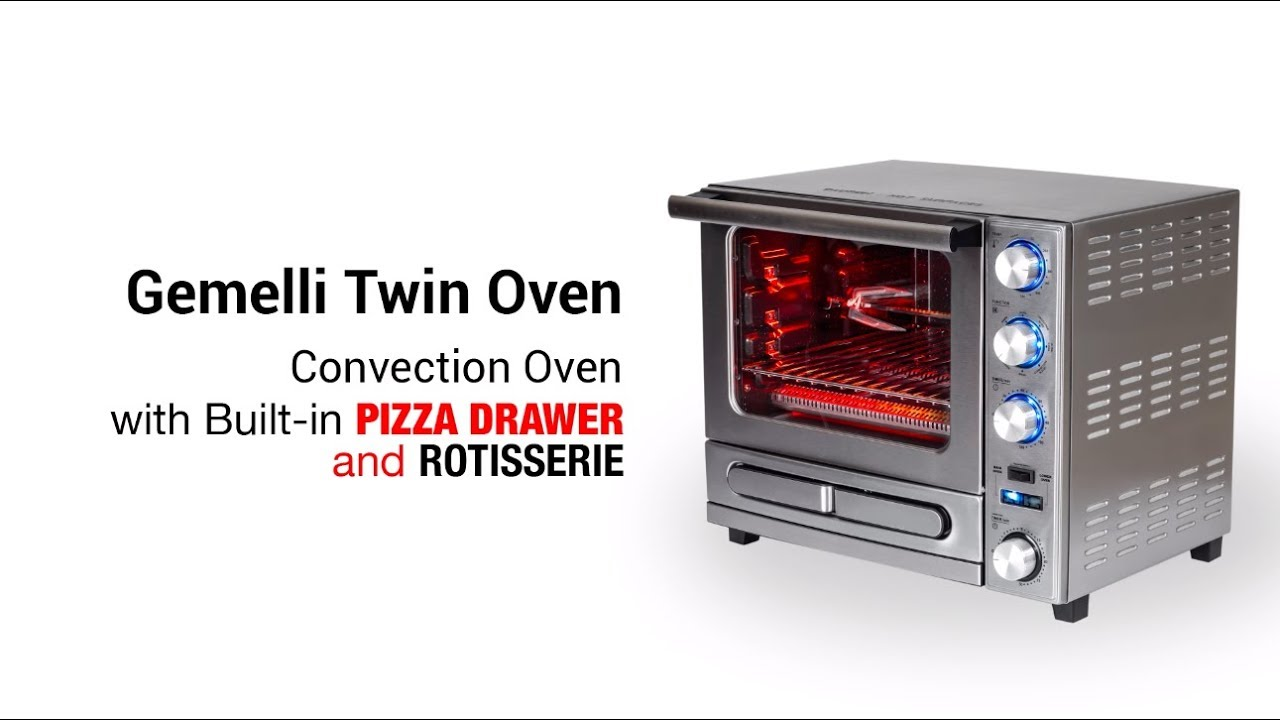 Professional Grade Convection Oven with Built-In Rotisserie & Pizza Drawer  video thumbnail