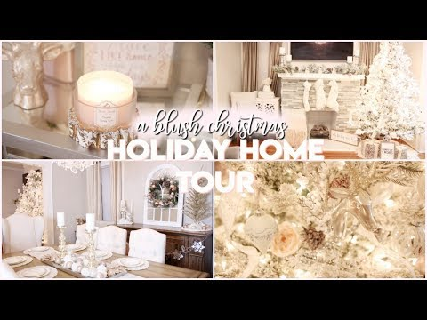 christmas-home-decor-tour-2018!-|-a-blush-christmas-|-rustic-glam-|-vlogmas-2018