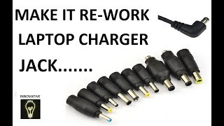 Fix and Repair Broken Laptop Power Cord || Charger pin by Innovative ideas