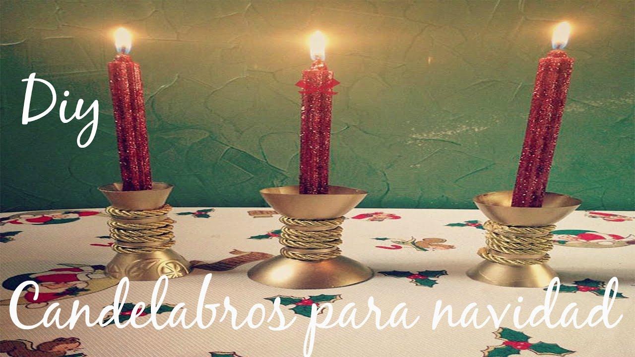 Diy candelabros para navidad youtube - Como hacer candelabros ...