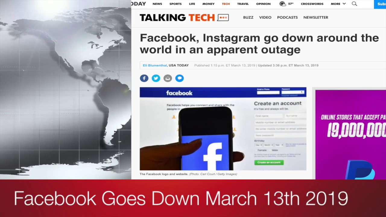 Facebook Goes Down March 13th, 2019 #FacebookDown