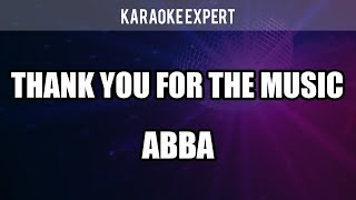 THANK YOU FOR THE MUSIC in the style of ABBA - KARAOKE