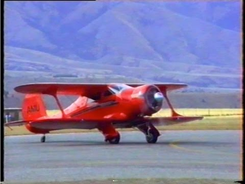 Beech 17 Staggerwing Display New Zealand 1996