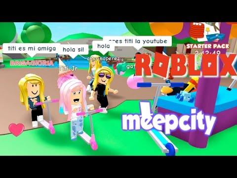 Jugando Roblox Meep City Mi Primera Fiesta Adoptando A Meep Soy