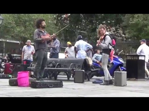 New Orleans - Street Musicians, Wael & Anna