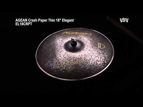 "18"" Crash Paper Thin Elegant video"