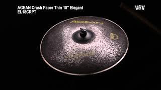 """Crash Paper Thin 18"""" Elegant vidéo"""
