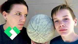 Mother vs Bryce Basketball Shootout! | Clintus.tv