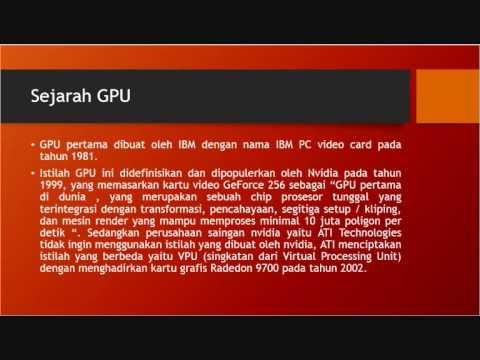 Pengertian dan penerapan Graphics Processing Unit(GPU)