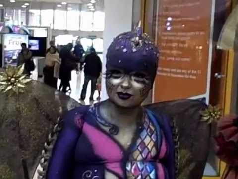 Theatre and film makeup and body painting
