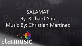 Salamat by Richard Yap (Lyric Video)