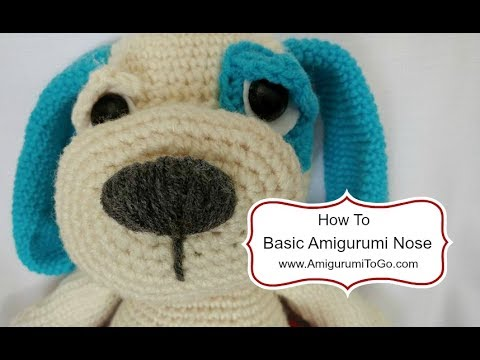 Amigurumi Bear Nose : Basic amigurumi animal nose youtube