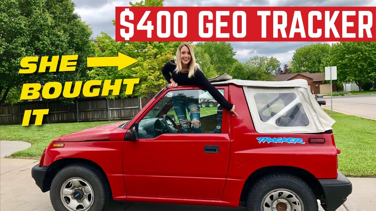 Amberghini Bought A Cheap Geo Tracker And Its Been Destroyed Youtube