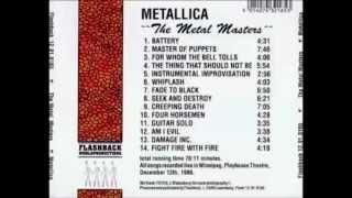 Metallica  - 1986 - Playhouse Theatre, Canada [FullConcert] [HQ]