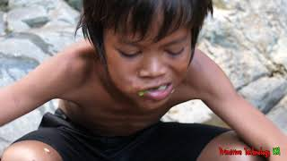 Primitive Technology - Eating delicious - Grilled fish recipe