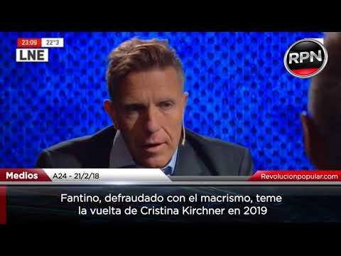 Fantino, defraudado con Macri, teme la vuelta de Cristina en 2019