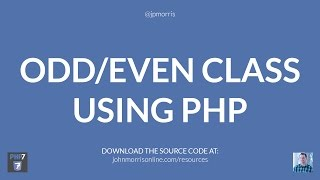 In this PHP tutorial, you'll learn how to create a zebra striped ta...