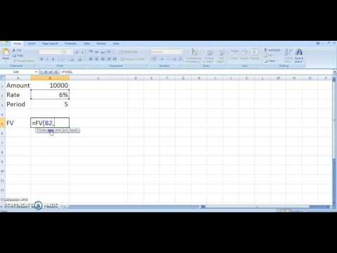 Find Future Value Using Excel Function FV