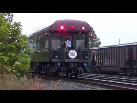 3 Amtrak HU's on the 2017 New River Train leaving Huntington,WV