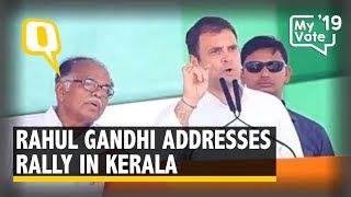 Rahul Gandhi Addresses Rally in Pathanamthitta, Kerala