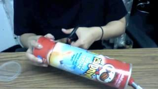 How to create a pringles pinhole