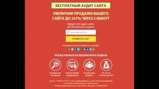 Бесплатный аудит сайта, проверка сайта, анализ сайта,  тест и оценка сайта (экспертиза онлайн)