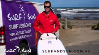 Types of surfboards with Surf & Sun