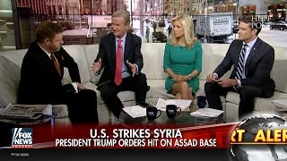 Watch Cable News Fawn Over Trump's Syria Strike