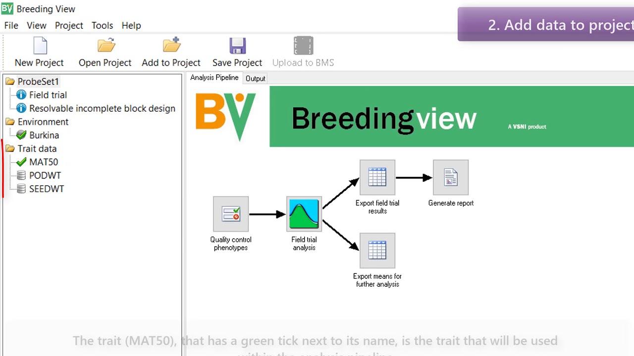 Breeding View Standalone - Single Field Trial Analysis