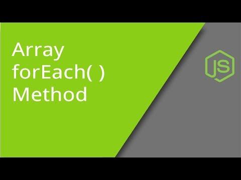 JavaScript Array ForEach Method