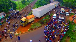 Gambar cover Is it world Most longest Truck in India?  138 Wheels Original Drone Video