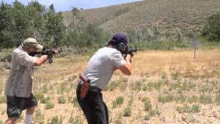 ar15 223 vs 9mm shooting ar500 steel