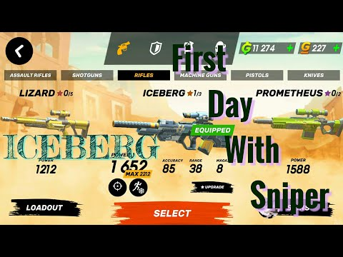 1st Day with ICEBERG SNIPER Guns Of Boom -  Online Shooter  aNdroid / IOS Gameplay