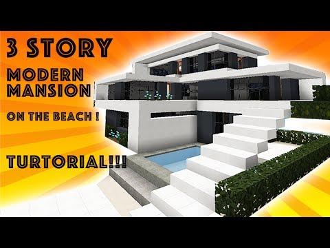Minecraft Tutorial: Modern Beach Mansion #1! (1.12)