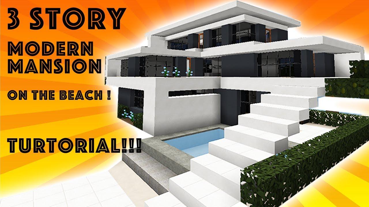 Minecraft Tutorial Modern Beach Mansion 1 1 12 Youtube