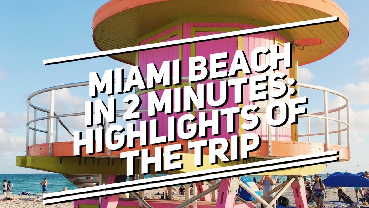 Miami Beach In December 2 Minutes The Highlights Of Our Trip Christmas
