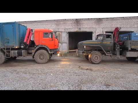 Гонки грузовиков УРАЛ против Камаз