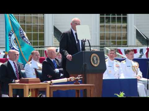 Homeland Security Secretary John Kelly speaks at Coast Guard Academy commencement 2017