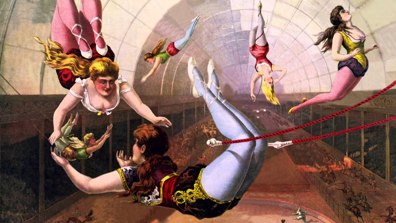 Trapeze Artists In Circus