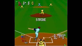 World Class Baseball gameplay (PC Engine)