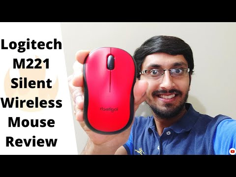 Logitech M221 SILENT Wireless Mouse | Unboxing & Review | 90% Less Noise | Red Colour 🔥