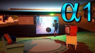Полная анимация колеса и соседа  Hello Neighbor Alpha 1 Full animation