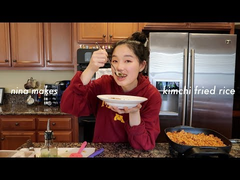 i made kimchi fried rice | cooking with nina