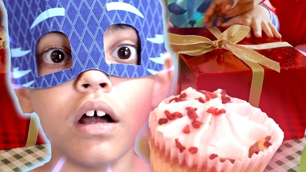 PJ Masks in Real Life 🍰 Bad Birthday with Cake! 🍰 PJ Masks